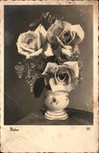 Vintage card with flowers — Stock Photo