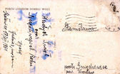 Cartolina d'epoca con messaggio scritto a mano — Foto Stock