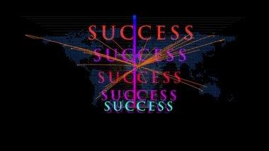 Cool wereldwijd succes concept bewegende beelden — Stockvideo