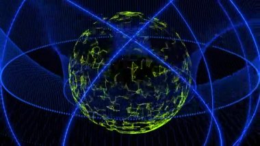 Dancing orbs of energy in space — Stock Video