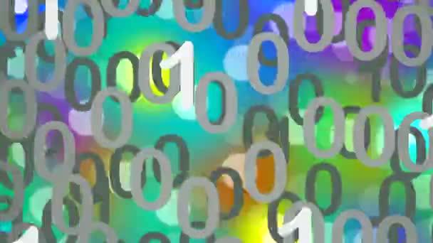Datos binarios en una nube — Vídeo de stock