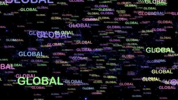 Succès mondial cool concept animation graphique — Vidéo