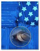 American patriotism template — Stock Photo