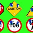 Warning signs - Stock Photo