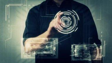Fond de technologie futuriste — Vidéo