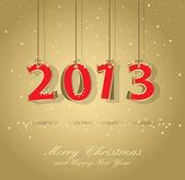 Carta di felice anno nuovo — Vettoriale Stock