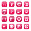 Stock Vector: Kitchen icons set