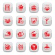Royalty-Free Stock Vector Image: Kitchen type icons