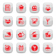 Kitchen type icons - Stock Vector