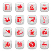 Kitchen type icons — Stock Vector
