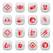 Food type icon set - Stock Vector
