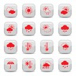 Weather icon set — Imagen vectorial