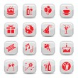 Celebrate icon set - Stock Vector