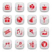 Celebrate icon set — Stock Vector