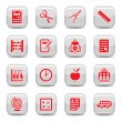 School and education icons — Stockvektor