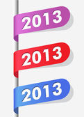 New year labels — Stock Vector