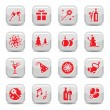 Celebrate icon set — Stock Vector
