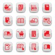 Books icons set - Stock Vector