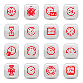 Clock icons — Stockvektor