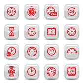 ρολόι εικονίδια — Διανυσματικό Αρχείο