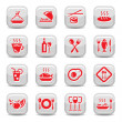 Restaurant icons set - Stock Vector