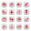 Royalty-Free Stock Vector Image: Fruit and vegetables icon set