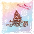 Royalty-Free Stock 矢量图片: Christmas vintage fir tree