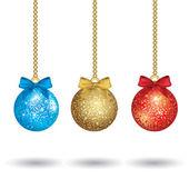 クリスマスのカラフルなボール — ストックベクタ