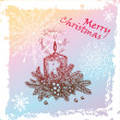 Royalty-Free Stock Imagem Vetorial: Christmas candle