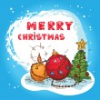 Royalty-Free Stock 矢量图片: Christmas colorful card