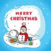 Christmas card santa claus — Stock Vector
