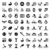 Big fitness icon set — Stockvektor
