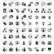 Big business and financial icons set — Stock Vector