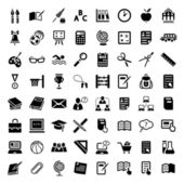 Big school icon set — Stock Vector