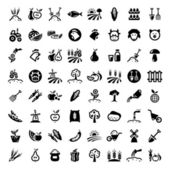 Big agriculture icons set — Stockvektor