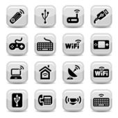 Electronic and wifi icons — Stock Vector