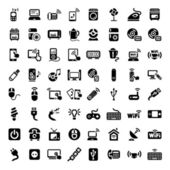 Big electronic devices icons set — Stockvektor