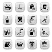 Cleaning icons set — Stock Vector