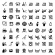 Stock Vector: Big cleaning icons set