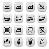 Cleaning and washing icons — Stock Vector