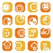 Stock Vector: Color time icons