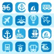 Royalty-Free Stock Vector Image: Color transportation icons set