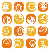 Color time icons — Stock Vector