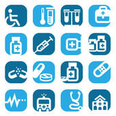 Color medical icons — Stock Vector
