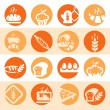 Stock Vector: Color bakery icons