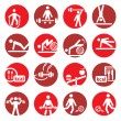 Color fitness and sport icons - Stock Vector