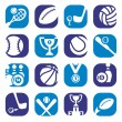 Color sports icons - Stock Vector