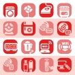 Color electronic devices icons - Stock Vector