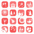 Color christmas icon set — Stock Vector