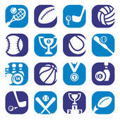 Color sports icons — Stock Vector
